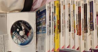 Pack de juegos + 2 mandos + accesorios wii