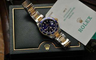 Rolex SUBMARINER Original, 16613 Bleue année 2002