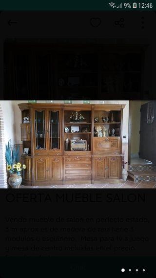 OFERTA MUEBLE SALON RUSTICO