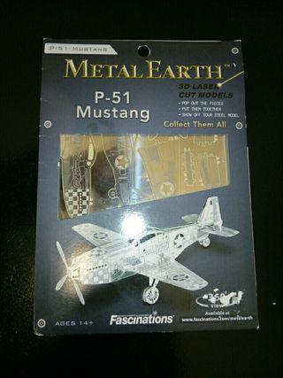 Maqueta metálica P-51 Mustang.