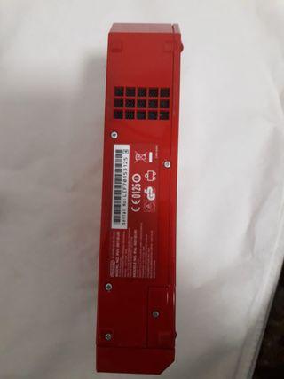 Wii roja con accesorios