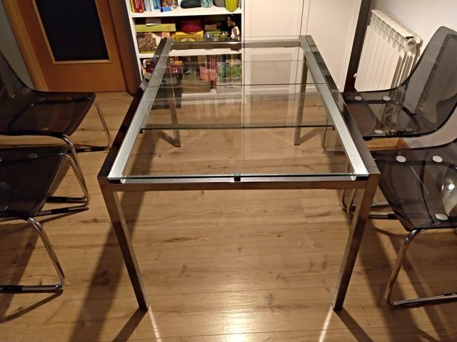 Mesa comedor Ikea de cristal extensible de segunda mano por ...