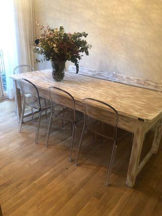 Mesa + sillas + banco