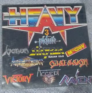 Disco de vinilo de Heavy Metal.