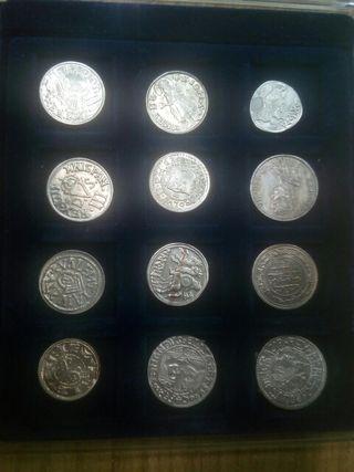 set 12 monedas plata