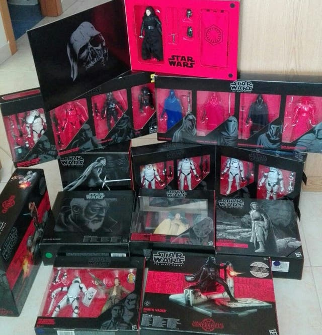 Colección stars wars black series swbs