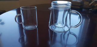 tetera cristal fino con filtro