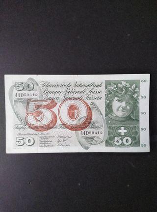Suiza 50 francos de 1973.