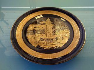 Plato de cerámica Galher Torre Hércules A Coruña