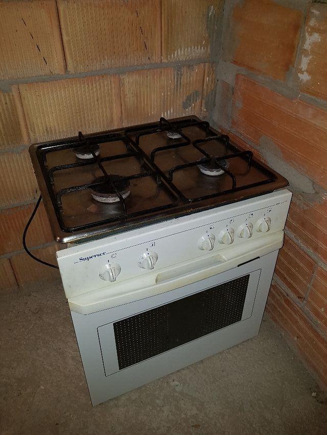 Encimera gas natural + horno