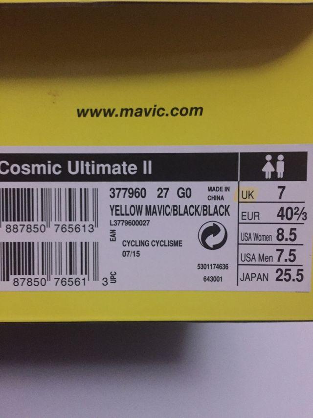 Mavic Cosmic Ultimate II SLR CARBON