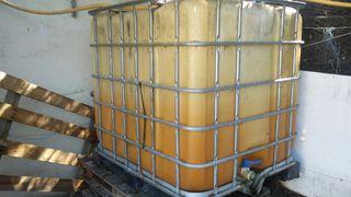 Bidón paletizado 1000L para gas-oil.