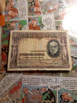 billete de 50 pesetas de 1935