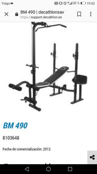 BM490 decathlon banco de pesas