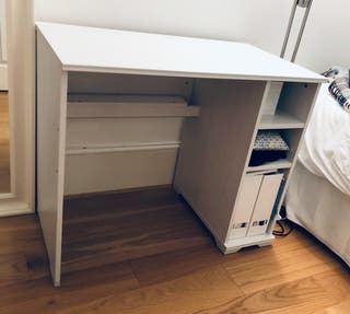 White study desk with storage from IKEA