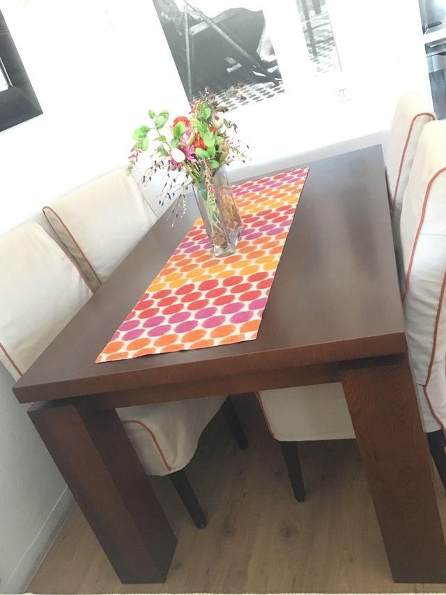 Vendo mesa comedor con 6 sillas. de segunda mano por 230 ...
