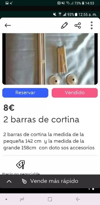 2 barras de cortinas