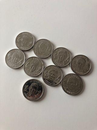 9 monedas de la seccion española (año 2000)