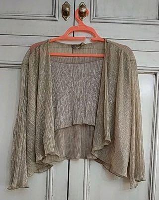 blusa forada con torera a juego
