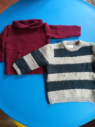 2 jerseys zara bebé niño 9-12