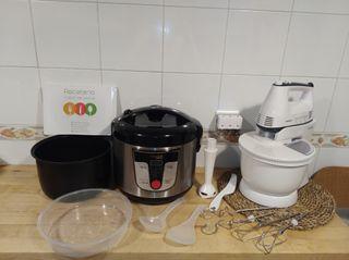 robot de cocina y batidora amasadora.