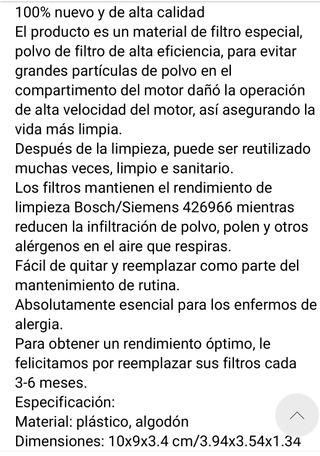 FILTRO Aspiradora