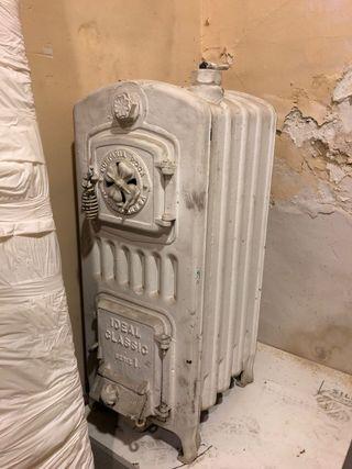 Estufa vintage hierro + radiador
