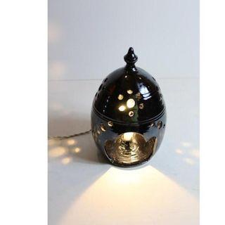 Antigua lámpara retro vintage cerámica