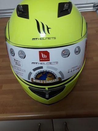 casco de moto modular mt helmerts nuevo XL
