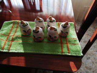 6 especieros ceramica