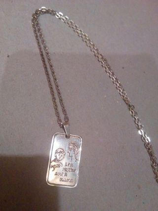 cadena y colgante de plata