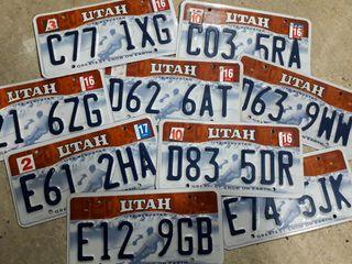 Matriculas Americanas, Utah