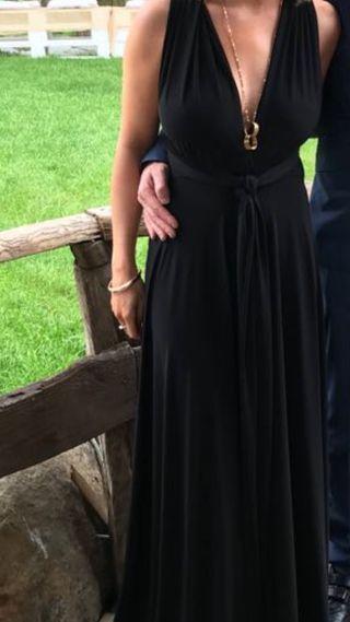 Vestido largo fiesta negro