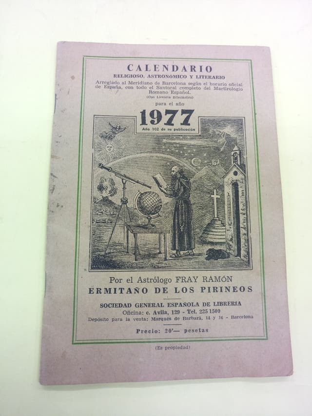 Calendario Del 1977.Calendario 1977 Por El Astrologo Fray Ramon De Segunda Mano