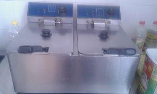 Freidora de dos senos de 8 litros eléctricas