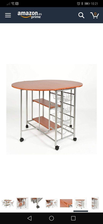 Mesa de cocina abatible con verdulero de segunda mano por 45 € en ...