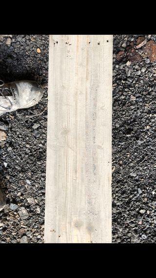 Straight edge floor board