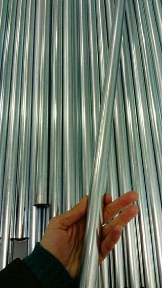 Barra de aluminio para expositor de tejidos