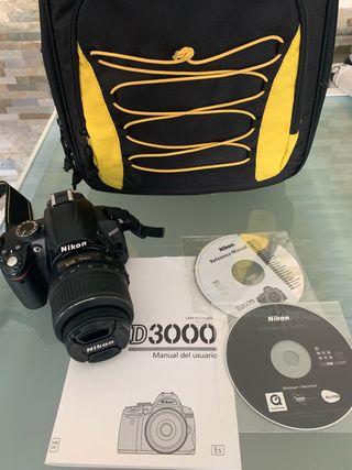 Nikon D3000 como nueva