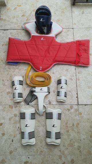 Protectores de taekwondo