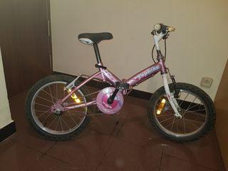 bicicleta niña plegable 16 pulgadas