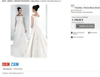 Vestido de Novia Vintage de Diseño Manu Alvarez