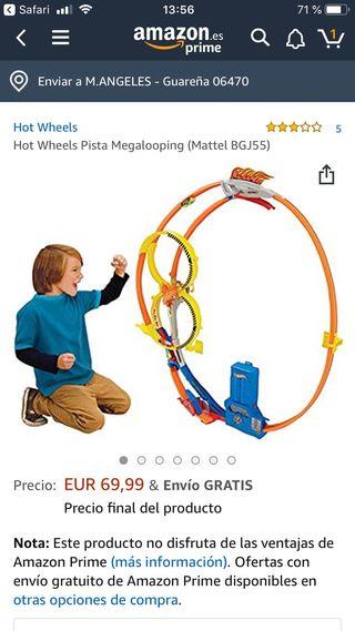 Pista Megaloopin Hot Weels