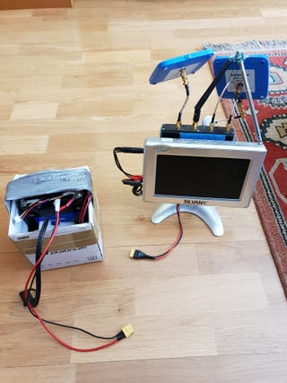 monitor tv fpv con receptor diversity 5.8