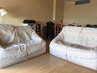 Conjunto 2 sofás de 2 plazas