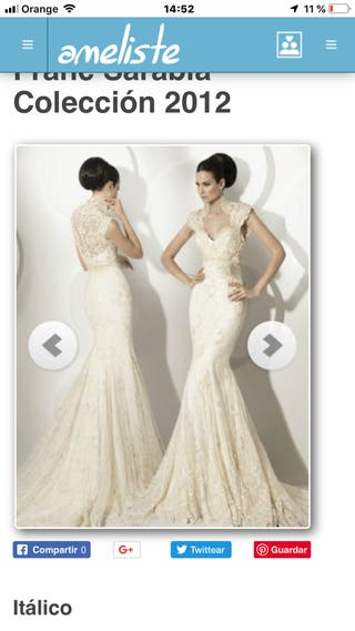 Vestidos novia franc sarabia precios