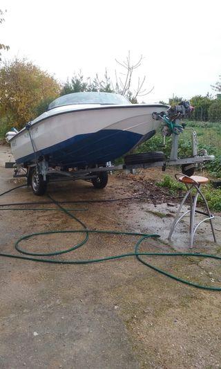 barca 4m eslora, 25cv,cabestran 1000kg auto