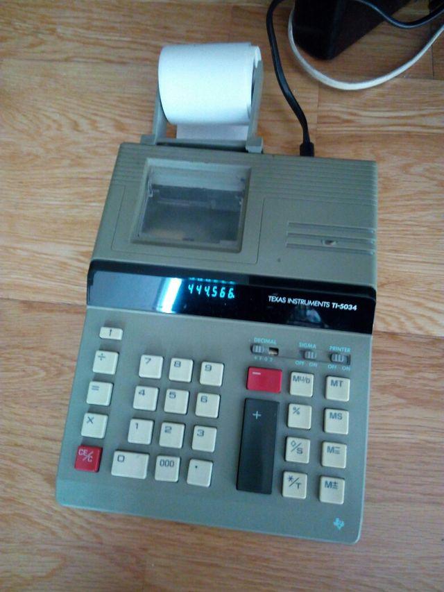 antigua calculadora electrica