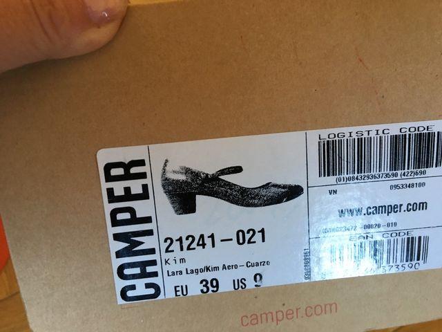 Zapatos Camper de ante gris T 39