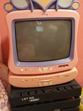 televisión más DVD de las princesas